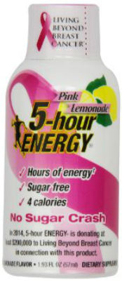 October is National Breast Cancer Awareness Month - Sales of Pink Lemonade Help Living Beyond Breast Cancer #5HourGoesPink
