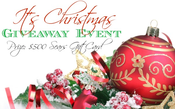Enter to Win a $500 Sears Gift Card in the It's Christmas Giveaway Event ending on 12/2/13 #SCRF - Shady's Contests, Reviews, and Freebies